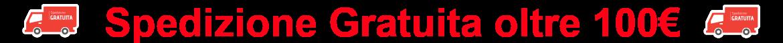 Spedizione gratuita oltre 100€ - Personalizzazione GRATUITA su ogni articolo - Sconto del 20 % per ordini superiori ai 199€